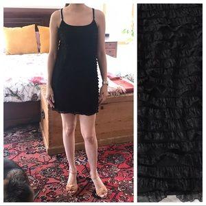 Free People black camisole minidress. Ruffle